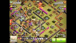 getlinkyoutube.com-How to Atk Th10 Square Base | Clash Of Clans | #1