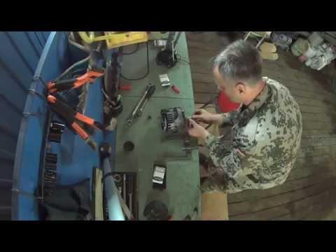 Снятие подшипников генератора Hummer H-3