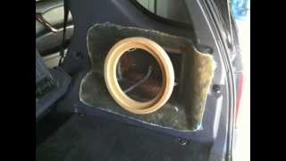 getlinkyoutube.com-Mercedes SUV Custom Fiberglass Subwoofer Box