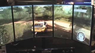 getlinkyoutube.com-Samsung Multi Display Gaming Setup (Samsung Spring Showcase NYC)