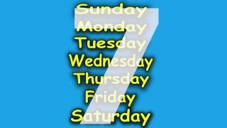 getlinkyoutube.com-Days of the Week Song - 7 Days of the Week - Children's Songs by The Learning Station