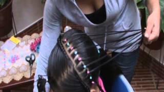 getlinkyoutube.com-El arpa peinados para niñas paso a paso