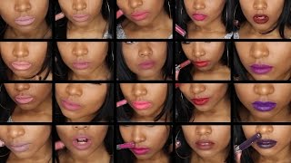 getlinkyoutube.com-20 Colourpop Ultra Matte Lip Swatches On Brown Skin