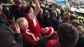 getlinkyoutube.com-Arsenal Fans Takeover The London Stadium!!!