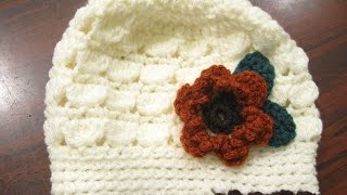 getlinkyoutube.com-Cluster Stitch Beanie REVISED - Crochet Tutorial