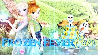 getlinkyoutube.com-DIY - How to Make: DISNEY FROZEN Fever Cake - Handmade - Doll - Crafts
