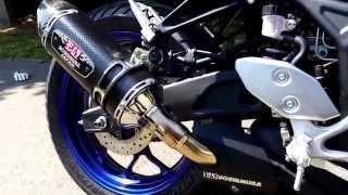 getlinkyoutube.com-Yamaha R3 Yoshimura R77 Slip-on exhaust sound