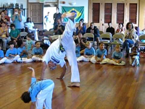 Mestre Bocoio at Mestre Kinha's batizado, part 5, Capoeira Besouro, Honolulu, HI, Dec 10, 2011