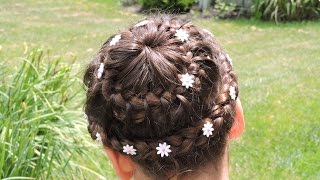 getlinkyoutube.com-Trenza CORONA #1  - Trenza Doble Corona - Double Crown Braid