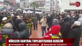NÜKLEER SANTRAL TOPLANTISINDA GERİLİM