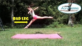 getlinkyoutube.com-Bad Leg Gymnastics | Annie the Gymnast | Acroanna