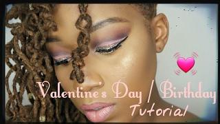 getlinkyoutube.com-Valentine's Day/ Birthday Purple Glitter Makeup Tutorial