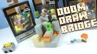 getlinkyoutube.com-Minecraft Mini-Figures Cave Biome Collection Doom Drawbridge 3 of 4