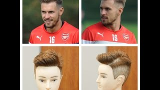 getlinkyoutube.com-Aaron Ramsey 2014 - Haircut Tutorial - TheSalonGuy