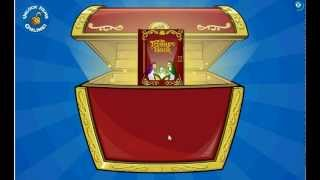 getlinkyoutube.com-Club Penguin Unlocking Treasure Book 18 Puffle Pharaon