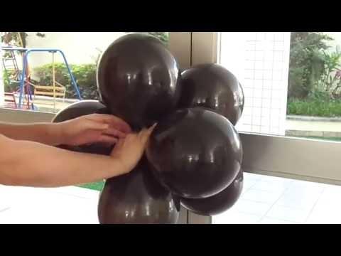 Como fazer um arco de balões / bexigas - passo a passo