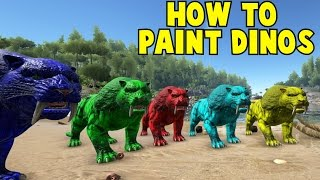 getlinkyoutube.com-How To Paint Your Dinos Ark Survival Evolved