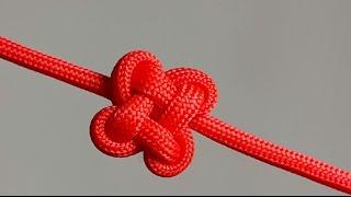 getlinkyoutube.com-How to make a Clover Knot [by ParacordKnots]