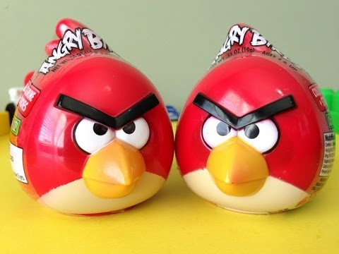 2013 Angry birds - 2 Toy surprise eggs unboxing ! FavToyReviews