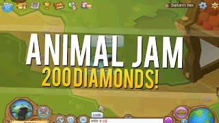 getlinkyoutube.com-Animal Jam - 200 Diamond Code!