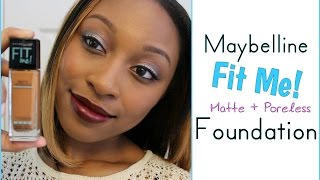 getlinkyoutube.com-♡ NEW Maybelline Fit Me! Matte + Poreless Foundation │Try-On & Initial Review
