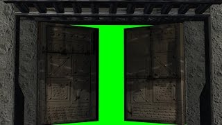 getlinkyoutube.com-old castle gate opens and closes - green screen