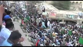getlinkyoutube.com-Liaquat Ali Khan Jatoi Warmly welcomed by people of Johi in Election campaign 2013