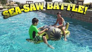 getlinkyoutube.com-SEA-SAW BATTLE!!! Swimming Pool Challenge FUN!