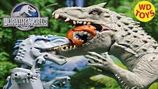 getlinkyoutube.com-New Jurassic World Indominus Rex Hero Mashers Vs Indominus Rex 2015 Unboxing, Review By WD Toys