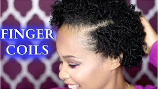 getlinkyoutube.com-How To Finger Coils on Natural Hair ✿ How to Style Natural Hair Tutorial ✿ Kimmy Boutiki