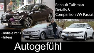 Renault Talisman FULL test drive REVIEW & Comparison VW Passat B8 2016 all-new neuer