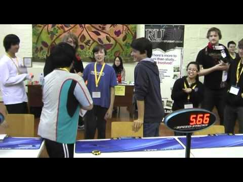Rubik's cube world record: 5.66 seconds Feliks Zemdegs