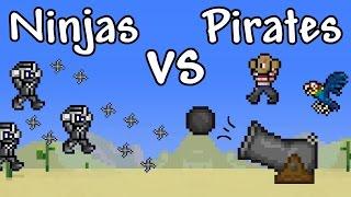 getlinkyoutube.com-[Terraria] INVASION! - Ninjas VS Pirates