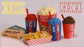 getlinkyoutube.com-Movie Theater Snacks : How to Make Miniature Popcorn, Icee, Nachos, & Candy (Polymer Clay)