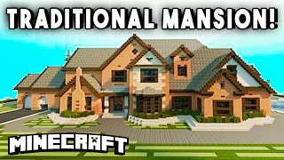 getlinkyoutube.com-TRADITIONAL MODERN MANSION (w/ Helipad, Racetrack, Pool, & More!) - Minecraft Maps