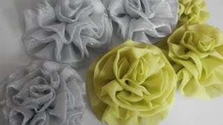 getlinkyoutube.com-Flor de organza - Tutorial