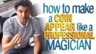 getlinkyoutube.com-Coin Tricks Revealed: How To Make A Coin Appear Like A Professional Magician!