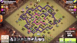 getlinkyoutube.com-Clash of Clans: GoWiWiPe 3 Star Clan War Attack Strategy for TH8 v TH8/9