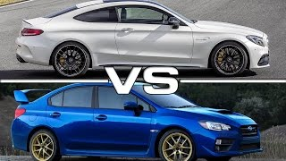 getlinkyoutube.com-2017 Mercedes AMG C63 S Coupe vs 2015 Subaru WRX STI