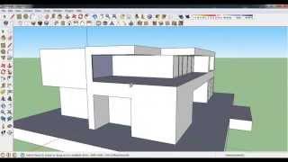 getlinkyoutube.com-How to make Modern House in Google Sketchup
