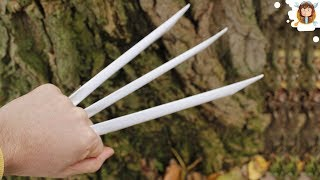 getlinkyoutube.com-How To Make Paper Wolverine Claws - Paper Claws