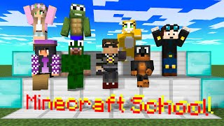 Minecraft School: Little Kelly, Aphmau, Littlelizardgaming, stampylonghead, DanTDM, Animation
