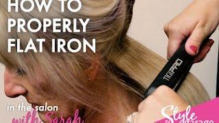 getlinkyoutube.com-How To Properly Flat Iron Your Hair Like a Stylist // In the Salon
