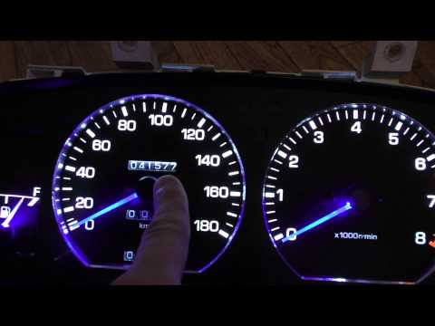 Пересвет приборной панели  Toyota Carina 4wd 1989г, под ОПТИТРОН (2)