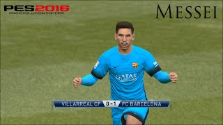 getlinkyoutube.com-Villareal VS Barcelona-Pes 2016 Game play/ Liga BBVA match/ PC Games