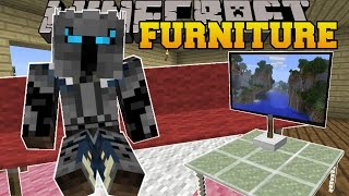 getlinkyoutube.com-Minecraft: FURNITURE! (COUCHES, TABLES, TV, CHAIRS, LAMPS, & MORE!) Custom Command