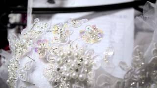 getlinkyoutube.com-Produzindo bordado vestido de noiva...