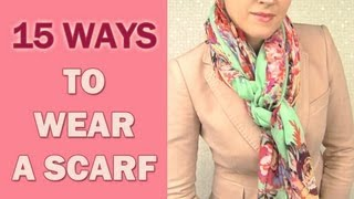 getlinkyoutube.com-How to wear a scarf around your neck in 15 different ways
