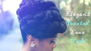 getlinkyoutube.com-Faux Updo Protective Hairstyle Hair Tutorial on Natural Hair