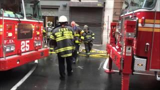 getlinkyoutube.com-FDNY RESPONDING TO, ON SCENE & BATTLING A 10-75 COMMERCIAL FIRE ON WEST 65TH STREET IN MANHATTAN.